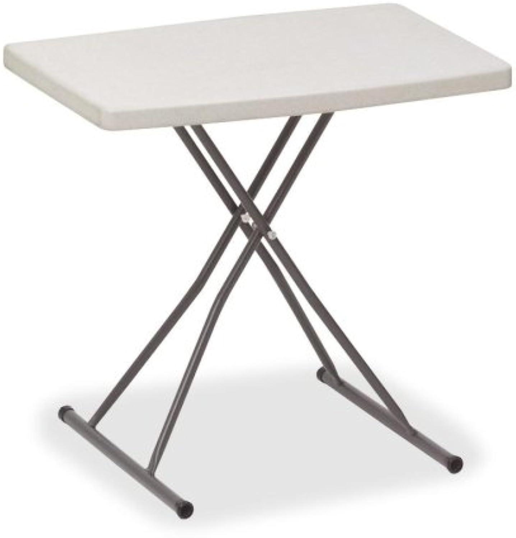 (Platinum) - Iceberg 65490 Indestructible Too 1200 Series Resin Personal Folding Table 30 x 20 Platinum