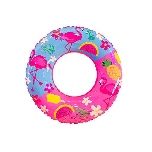 NINIWA Anillo de natación de PVC de dibujos animados Flamingo Inflable Anillo de Natación Espesar Redondo Salvavidas Piscina Fiesta Juguetes 60cm