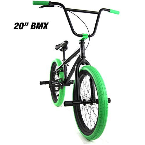 "Elite 20"" & 16' BMX Bicycle The Stealth Freestyle Bike (20' Black..."