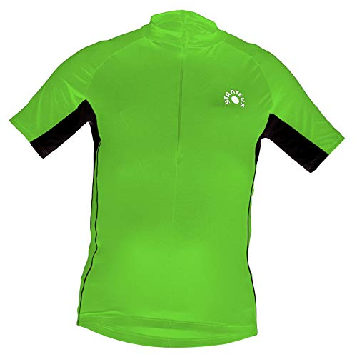 STANTEKS Kurzarm Radtrikot Fahrradtrikot Fahrradshirt Funktionsshirt SR0035 (XXXL, grün-schwarz)