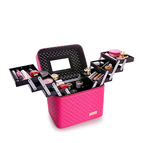 Female Fashion Wash Makeup Cosmetic Bag Large Capacity Multi-layer Storage Box To Make Up For Portable Suitcase (Color : 6)