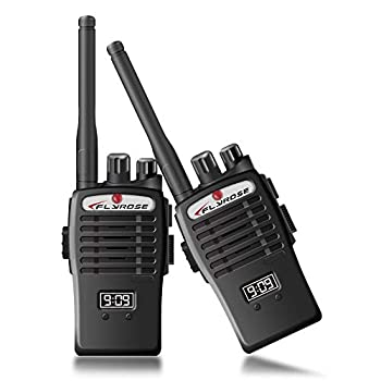 Walkie Talkies for Kids 2 Way Radios Toy Portable Long Range Handheld Talkies Talky with Belt Clip Child Toys Best Gift for Boys Girls Outdoor Adventure Game,Camping,Hiking 2 Pack Black