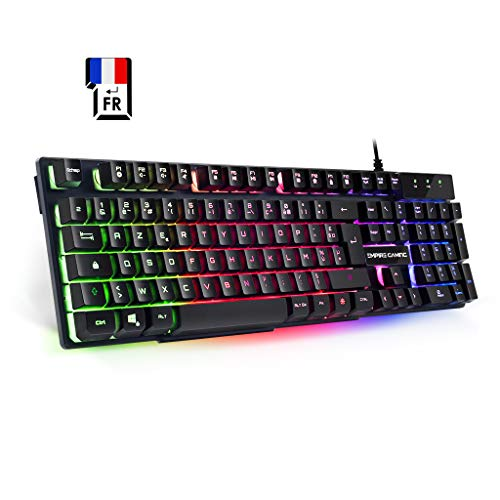 EMPIRE GAMING – Clavier Gamers K300 – 105 Touches Semi-Mécaniques –...