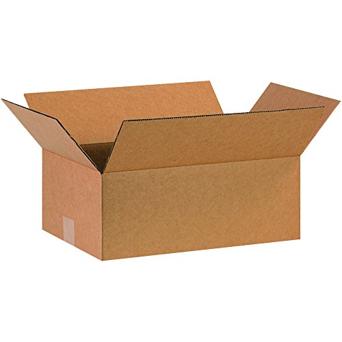 BOX USA B16106 Corrugated Boxes, 16'L x 10'W x 6'H, Kraft (Pack of 25)