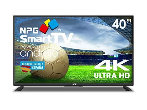 Televisor LED 40' 4K NPG Smart TV Android UHD WiFi TDT2 H.265 USB Grabador