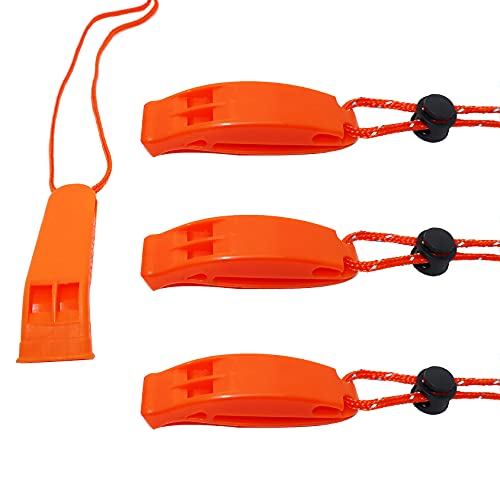 Whistles with Lanyard Emergency Whistle Loud Alarm for Safety Camping Hiking Hunting Fishing Swimming Dog Training Coach Referee Police Women Elder