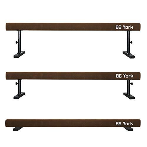 86 York Adjustable Balance Beam Gymnastic Equipment for Kids Home Practice 8 ft Long (Light Brown)