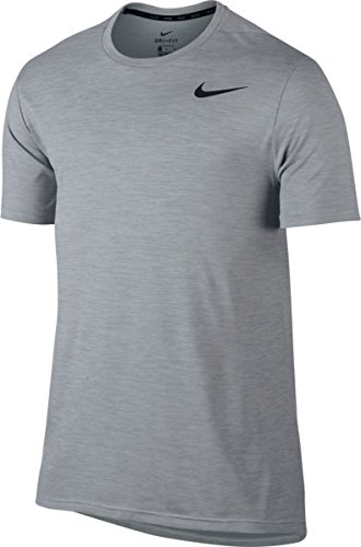 Nike M NK BRT Top SS Hpr Dry Maillot Manches Courtes pour Homme, Blanc (White/Wolf Grey/Black), L