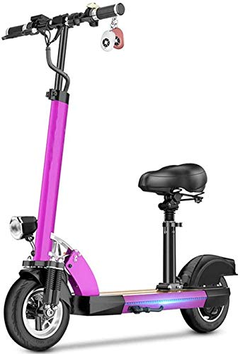 Portable Electric Scooter Adult 500W, Comfortable Seat, Portable Foldable Electric Scooters, Le'd Light Strip, LCD Display, Maximum Endurance 100KM, Suitable For Height 15 LATT LIV