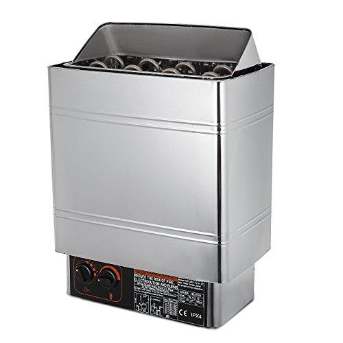 Guellin Estufa Eléctrica para Sauna 8kw / 9kw Calentador de Sauna 380-415V Sauna Stove con Control Interno Estufa Eléctrica Sauna Incorporada (9kw)