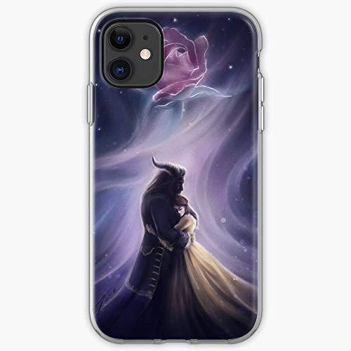 Pure Clear Casi Compatibile con iPhone 12/12 Pro Max 12 mini 11 Pro Max SE X/XS Max 6/6s 7/8 Plus Cover The and Beast Beauty Fairytales