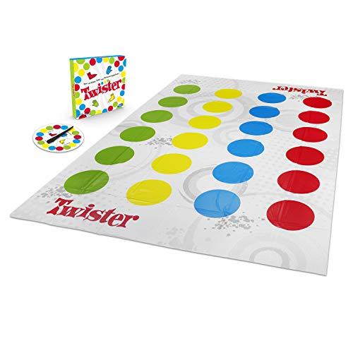 Hasbro Gaming Twister Spiel, Partyspiel für Familien und Kinder, Twister Spiel ab 6 Jahren, klassisches Spiel für drinnen...