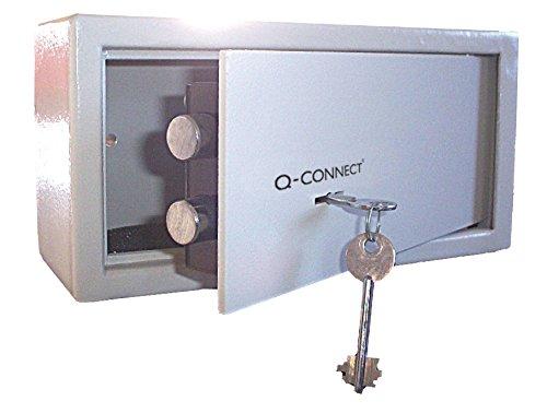 Q-Connect Cassaforte a chiave, capacità 6 l, colore grigio