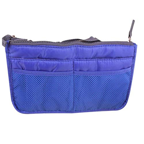 YIBING Cosmetic Bag Makeup Bag Travel Organizer Portable Beauty Pouch Functional Toiletry Bag, Blue