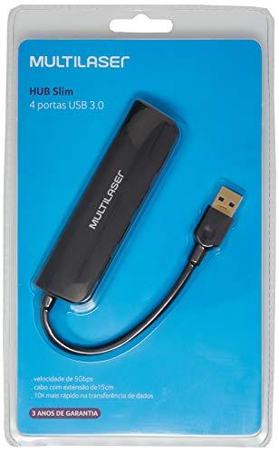 Hub Multilaser Usb 4 Portas 3.0 Super Speed - AC289