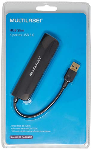 Hub Multilaser Usb 4 Portas 3.0 Super Speed - AC289