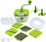 Vivir Advance 10 in 1 Dough Maker, Chipser, Blender, Slicer, Shreder, Juicer, Vegetable Chopper for Kitchen (All in 1) (Green)