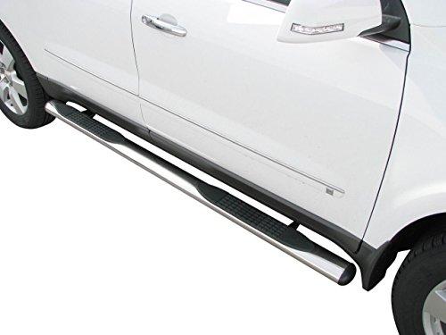 Marchepied en acier inoxydable 2012-2014 - Diamètre : 100 mm - Avec certificat de pièces - Compatible uniquement avec double cab~