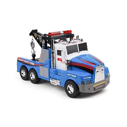 Mighty Fleet Motorized Tow Truck Toy