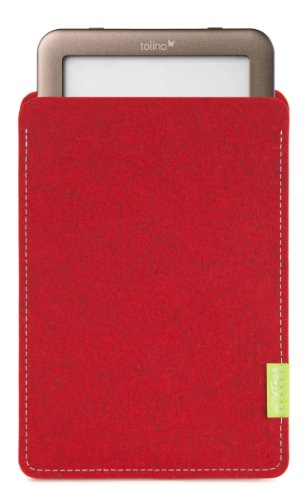 WildTech Sleeve für Tolino Shine - 14 Farben wählbar (Kirschrot)