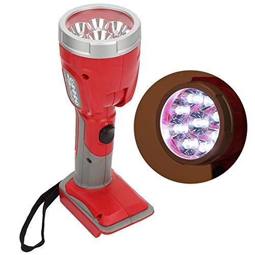Foco recargable, linterna LED, foco de mano, interruptor de perilla supergrande, gira 90 grados, batería recargable potente linterna, gira 90 grados. Válvula de bola