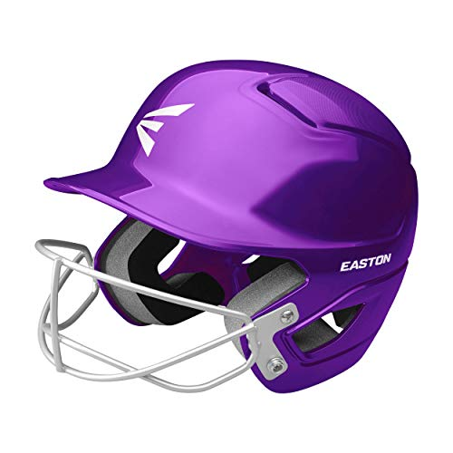 EASTON Alpha Softball Batting Helmet, Softball Mask, T-Ball/Small, Purple, 8072039