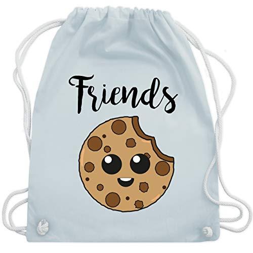 Shirtracer Partner-Look Familie Kind - Best Friends Cookies - Friends - Unisize - Pastell Blau - Keks - WM110 - Turnbeutel und Stoffbeutel aus Baumwolle
