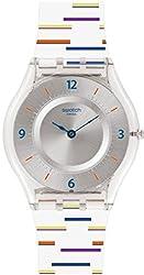 powerful Swatch Ladies Digital Quartz Watch with Plastic Strap SFE108