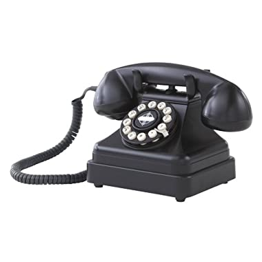 Crosley CR62-BK Kettle Classic Desk Phone with Push Button Technology, Black