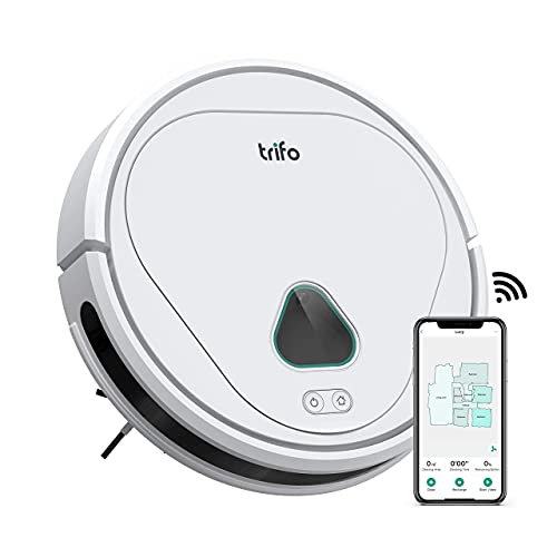 Robot Vacuum, Trifo Robot Vacuum Cleaner, 3000Pa Strong Suction, Camera Monitoring, Ideal for Pets Hair, Mapping, Automatic-Charging, 120 Min Runtime, Carpets, Hard Floors, Tile, Wi-Fi, Alexa, App