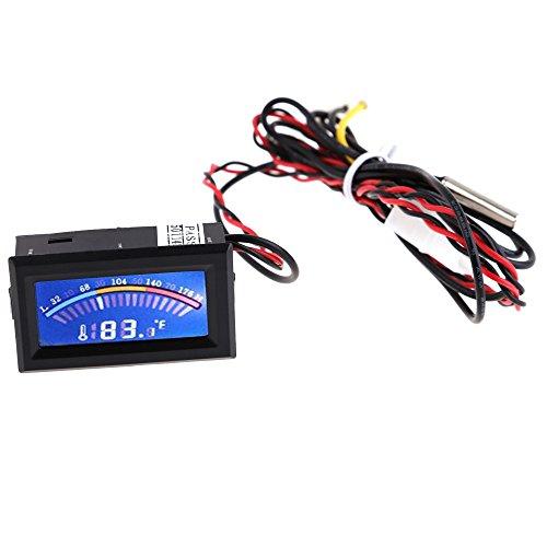 Yesfor Mutifunktion Digital Thermometer Temperatur-Messer LCD PC Mod C/ F mit lange Probe