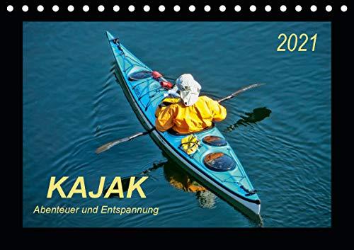 Kajak - Abenteuer und Entspannung (Tischkalender 2021 DIN A5 quer)