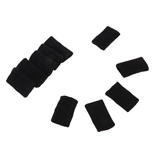 Gazechimp 10 Stück Elastische Fingerbandage Fingerschutz Fingerband um Schutz Beim Sport wie Basketball, Volleyball, Baseball, Tennis - Schwarz