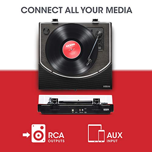 ION Audio Premier LP – Wireless Bluetooth Turntable / Vinyl Record Player with Speakers, USB Conversion, RCA & Headphone…