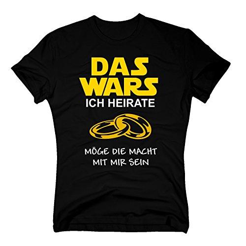 Das Wars Shirt Herren - Ich heirate - Junggesellenabschied Bräutigam JGA - von Shirt Department, schwarz-gelb, M