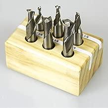 End Mill Set, 6 Piece 2 Flute