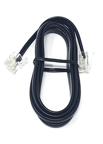 MainCore, Langes, schwarzes, flaches ADSL-Hochgeschwindigkeits-Breitbandmodem-Kabel, RJ11auf RJ11(erhältlich in 1m, 2m, 3m, 5m, 10m, 15m, 20m, 30m) 1m Schwarz