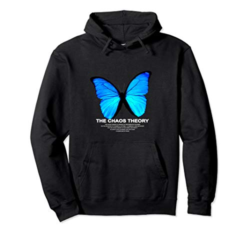 THE CHAOS THEORY BLAU SCHMETTERLING BUTTERFLY BLUE Pullover Hoodie