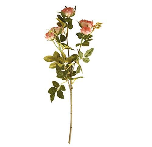 Mamum Fleur Artificielle Fleur de Pivoine Artificielle pour Le décor de Maison de Noce Fausses Fleurs Bouquet de mariée (Rose)