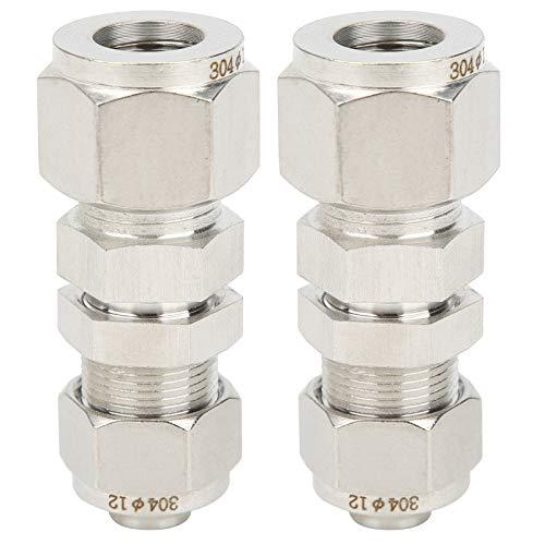 Accesorio de compresión de férula de 2 piezas Acero inoxidable 304 Resistencia a alta presión Simple y conveniente para operación a gran altitud para la prevención de incendios(Ф12*10)