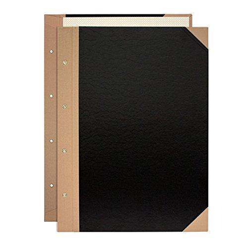 プラス とじ込表紙 B4縦 4穴 FL-003TU 77-143 黒