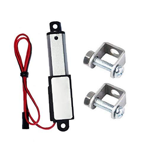 Micro actuador lineal eléctrico Mini impermeable con soportes de montaje 12V 60N Stroke 15 mm Longitud 30 mm Velocidad