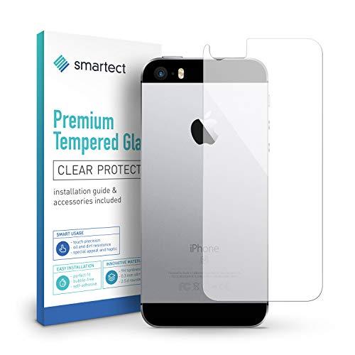 smartect Panzerglas kompatibel mit iPhone SE 2016/5 / 5s / 5c [Rückseite] - Displayschutz mit 9H Härte - Blasenfreie Schutzfolie - Anti Fingerprint Panzerglasfolie