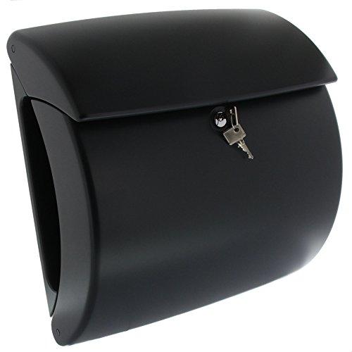 BURG-WÄCHTER Briefkasten mit Zeitungsfach ohne Namensschild, Hochwertiger Kunststoff, Einwurf-Format DIN C4, Inkl. 2 Schlüssel, Pearl 886, Grau (RAL 7016)