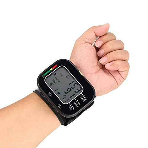 AirMood Blutdruckmessgerät für das Handgelenk für den Heimgebrauch LCD-Handgelenk-Blutdruckmessgerät Herzfrequenz Pulsuhr Gebrauch zu Hause oder unterwegs