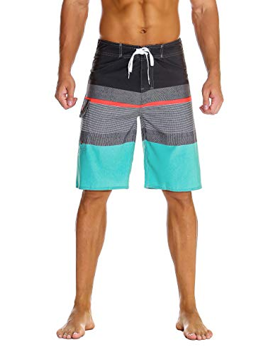 Nonwe Men's Sportwear Quick Dry Swim Trunks with Lining Gray 36