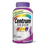 Centrum Silver Women's Multivitamin for Women 50 Plus, Multivitamin/Multimineral Supplement with Vitamin D3, B Vitamins, Calcium and Antioxidants, Gluten Free, Non-GMO Ingredients - 200 Count