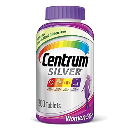 Centrum Silver Multivitamin for Women 50 Plus, Multivitamin/Multimineral Supplement with Vitamin D3, B Vitamins, Calcium and Antioxidants - 200 Count