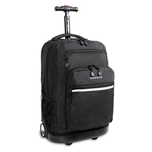 J World New York Sundance Rolling Backpack, Black, One Size