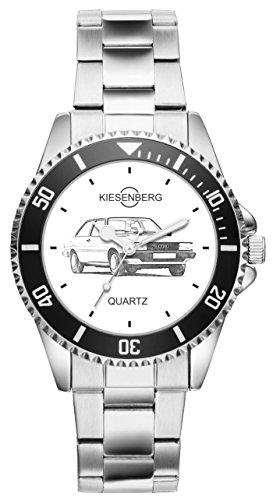 Kiesenberg Uhr 20071 Geschenk Artikel für Audi 80 B2 Oldtimer Fans und Fahrer